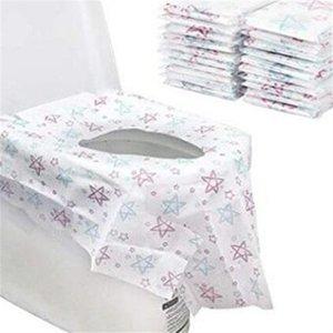 Viaggiare monouso igienici cuscino Covers reticolo di stella non tessuto prova dell'acqua Potty Protector carta Per Kid adulti Bagni pubblici 12 5CR E19