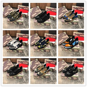 Calidad 2019 Designer Luxuries Hombres Mujeres Rockrunner Sneakers Camoufalge Zapatos casuales con Star des chaussures zapatos schuhe entrenadores c16