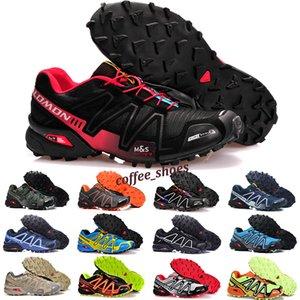 Salomon Speed Cross 3 4 2019 Shoes zapatos hombre velocidade Cruz 3CS III Esporte Sneakers Homens Pretos ao ar livre atlético SpeedCross Solomon tênis de corrida 40-46 F4