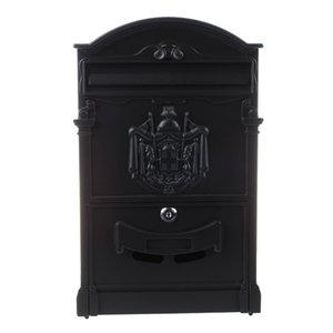 Neue Hochleistungs-Aluminium schwarz Abschließbare Secure Mail Briefpostfach Letterbox Neue