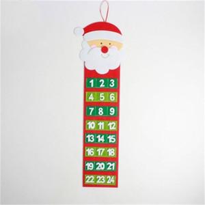 Chegada Nova Snowman Calendários de parede criativa do advento do Natal Calendário Pendant Número Count Down Papai Noel Decoração multi Estilo 8xbH1