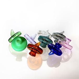 Цветные стеклянные CARB CAP для умозащитных CARB CARB для скошенного края кварц Banger Nights Glass Water Bongs DAB нефтяные вышки для курящих аксессуаров