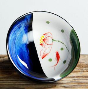 Chino de cerâmica tazas Vintage taza horno cambio maestro taza celadon Kung Fu té conjunto S