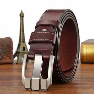Strap Male Genuine Leather belt Designer Pin buckle men's Belts Men High Quality Man Leather Belt For Men belts pasek meski 6168