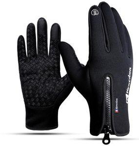 мода сенсорный экран перчатки холодной доказательство мужчины женщины Спорт Перчатки флис утолщенной зимой на открытом воздухе верхом теплый водонепроницаемый Обучение yakuda фитнес