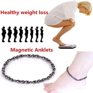 Handmade Dainty Anklet for Womens Chain Foot Chain Black magnetotherapy slim foot chain