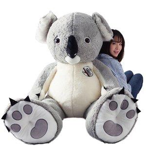 Dorimytrader Jumbo Plush Toy Koala animal Grande Stuffed desenhos animados Koalas boneca christmas decoração 55inch 140 centímetros