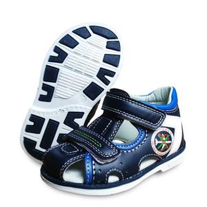 Yeni 1 pair Yaz Erkek Ortopedik Ayakkabı Pu Deri Çocuk Sandalet, Çocuk Çocuk ayakkabıları Y190525