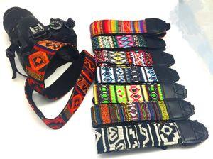 Путешествия стиль камера плечо шейный ремень трикотажная ткань Богемия стиль плечевой ремень мода цвет для цифровой зеркальной камеры