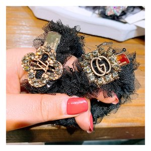 Luxury High-grade Korean restore ancient ways lace custom full of small letters to play ball head rubber band hair ring ornaments