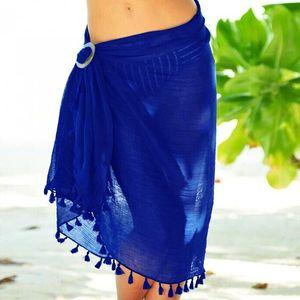 5colors Telo Cover Up nappa pannello esterno dell'involucro Bikini Swimsuit donna Costumi da bagno Donna Solid Pareo della spiaggia di estate di usura Parei GGA3372-2