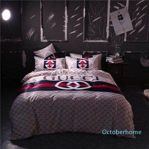 Hot Top Qualidade Conjuntos de luxo clássico Designer cama Moda Roupa de cama Consolador capa de edredão América estilo da cama Define frete grátis