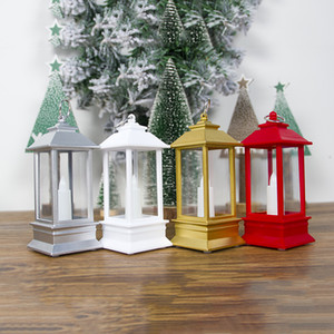 New pattern White Golden Silvery Gules Christmas Ornament Transparent Portable wind lamp Home Furnishing Courtyard Little candle Ornament