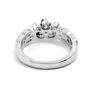 Monili delle donne di lusso della lega di colore argento squisito gioielli artificiali blu Zircon diamante pietra gioielli anello produttore vendite dirette