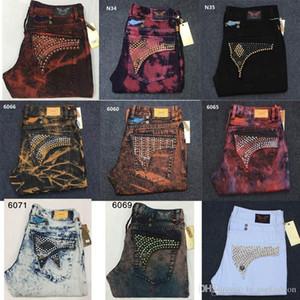 2020 Nouvelle arrivée jeans hommes Robin célèbre marque de jeans déchirés hommes motard taille plus denim jean pour homme