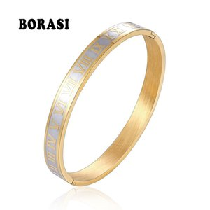 BOBASI Carving Roman Numeral Lover Cuff Bracelet &Bangle Men Women Changeable Steel Gold Color Unisex Bracelet Wedding Jewelry