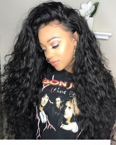A Water Wave 360 Lace Front Human Hair Wigs For Black Women Pre Plucked 150 %Density Brazilian Hair Water Wave Lace Frontal Wig