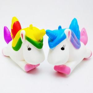 Hot arc-en-Squishy Unicorn douce Mini Squishy Téléphone Donut Sac Toy Charms Jumbo Buns téléphone cellulaire Charms sangles Longe enfants cadeau