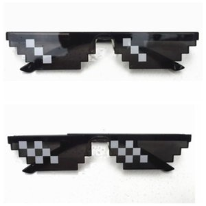Thug Life Attitude Sunglasses 8 Bit Pixel Deal With IT Unisex Glasses Eyewear