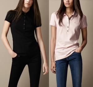 Fashion-Womens Summer Polo Tshirt Classic manica corta Polo moda di marca per le donne Hot Sale vendita calda Polo Tee 5 colori S-XXL