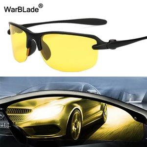 Warblade 2020 New Yellow Homens polarizada Driving Sunglasses Lense Night Vision Driving óculos Polaroid Goggles Glare Reduzir