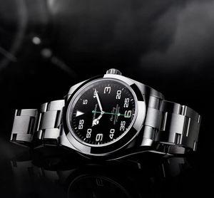 Vendita della fabbrica diretto 116900 40 millimetri Air quadrante nero orologi da polso orologi da uomo giovane orologio degli uomini di modo Movimento automatico Corona