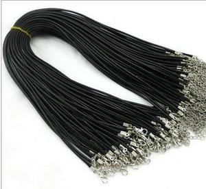 Couro Colar Serpente Beading Cord corda de arame cadeia de jóias barato com fecho da lagosta Componentes medalhão preto colares gargantilha