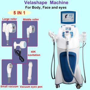 Vela forma máquina de celulitis al vacío que adelgaza más rápido Rodillo de vacío eliminación de grasa velashape láser RF máquina de pérdida de peso