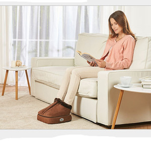 Caliente 2 en 1 climatizada eléctrico calentador de pies acogedor terciopelo unisex Pies climatizada calentador de pies masajeador de Big Foot Zapatilla caliente de calor masaje zapatos
