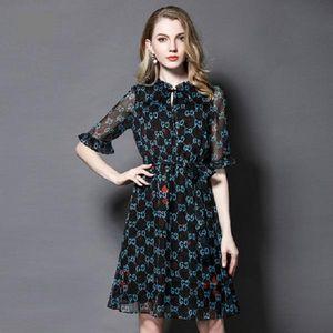 Exclusiva al por mayor de los vestidos de gasa de la muchacha mujeres de mediana edad Tamaño vacaciones desinger verano más atractiva de la manera informal traje de gala de impresión