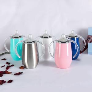 10 once Sippy Cup acciaio inossidabile ha isolato tazza di caffè tumbler con gestisce la transizione Trainer Cup per i bambini A03