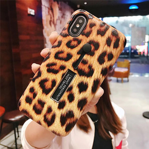 Fashion Leopard Print Plush loopy Phone Case For iphone 11 Fashion Ring Stand Matte Hard Cell Phone cover plush case iphone xr