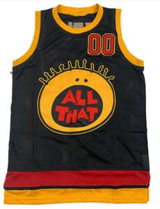 All That Kel Mitchell Basketball Jersey camisola barata personalizados preto tamanho mens S-XXXL filme de basquete jerseys