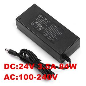 84W 3.5A 24V Power Adapter 24V 3.5A Ac Adapter 24V US EU UK AU plug AC line 1.2M + DC line 1.2M 5.5*2.5MM