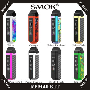 SMOK RPM40 Kit intégré 1500mAh 40W Vape Mod avec Pod Nord RPM Pod 4.3ml avec RPM Nord Bobines 100% Original