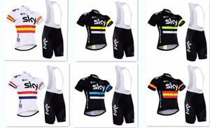 2020 nuevo equipo Sky Pro Cycling Jersey + del babero de ciclo Set. Los hombres de ciclo de la bicicleta ropa de la bici camisas del desgaste Ropa Ciclismo Mtb