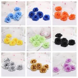 mode 19style 8cm roses artificielles capitules en tissu Fleurs fleurs décoratives mariage Bouquet Centerpieces DIY Party SuppliesT2I5594