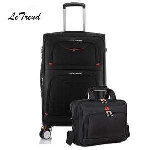 Letrend Haddeleme Bagaj Seti Dönücü İşlevli Arabası Bavullar Tekerlek Seyahat Duffle Iş Laptop çantası Çanta Şifre kutusu