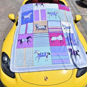 조수 브랜드 담요 가구 Brocade 여우 벨벳 담요 궁 스타일 다기능 Double Side Whipstitch Baby Cover Blanket