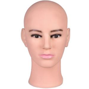 Tête factice de mannequin masculin de haute qualité pour le chapeau de perruque de masque de lunettes de soleil, têtes de mannequin avec support libre, pince