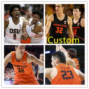 Maglia da basket Oregon State Beavers da uomo su misura 33 Steve Johnson 20 Gary Payton 45 AC. Green 15 Eric Moreland 12 DREW EUBANKS OSU Jersey