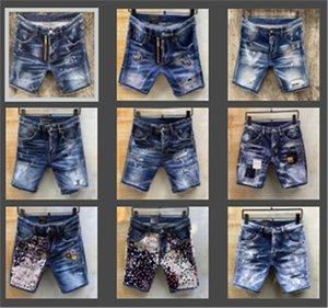 Moda Erkek Jeans Denim şortlar erkek tasarımcı kot Günlük Sade Pantolon Motosiklet Kamuflaj Boya Jeans İlham Sanat Kanye kısa