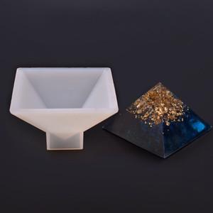 Forma nueva pirámide Cilindro Quadrihedron joyería silicón moldea la resina de epoxy de silicona Moldes de bricolaje colgante que hace el arte Moldes decoración del hogar