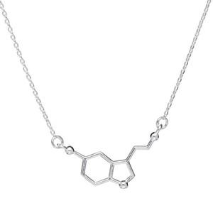 1 collar químico molecular estructura molecular collar fórmula química 5-HT joyería geométrica joyería exquisita joyería simple