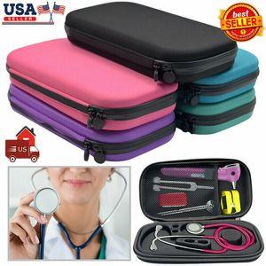 Portable Durable Storage Box Stethoscope Travel Case EVA Carry Organizer Bag