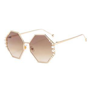 2020 Fashion Lady Hexagonal Sunglasses Brand Designer Sunglasses Women Blue Pink Clear Lens