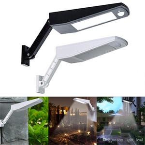 Bahçe Dış Aydınlatma için ayarlanabilir Kutbu ile 48 LED Güneş Işık 900LM LED Duvar Lambası PIR Sensör Hareket 4 Modları Acil Işıklar