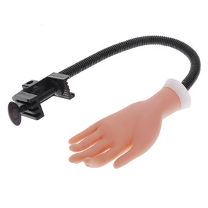 Strumenti Nail art NAT007 formazione professionale a mano flessibile falso del chiodo della barretta di pratica di arte regolabile mano di modello per il manicure di formazione