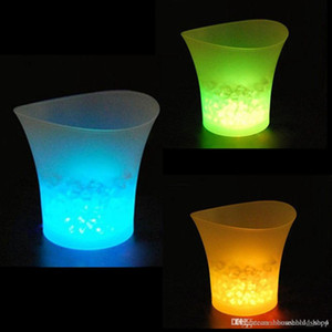 5L Waterproof Plastic LED Ice Bucket Color Changing Bars Nightclubs LED LIGHT Beer Bucket Bars Night Party free shipping