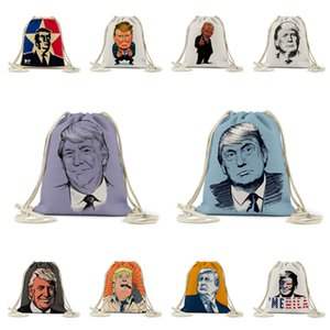2020 Elezioni presidenziali Digital ha stampato il modello Bundle Pocket Trump Beach Bag storage Trump Shopping Bag Bag storage T3I5881